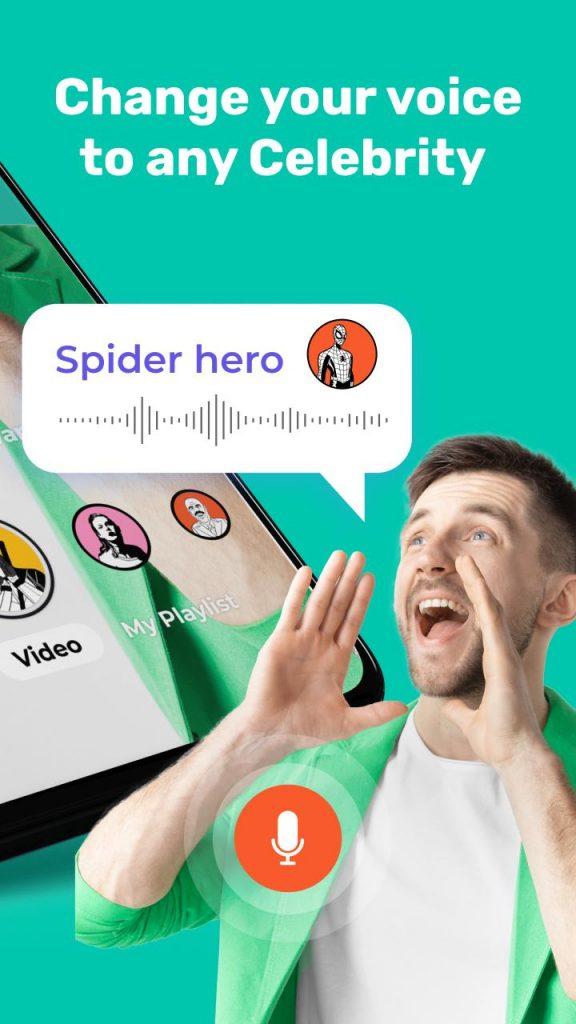 Celebrity voice changer: Superhero voice effects 2021 APK Free Download 4