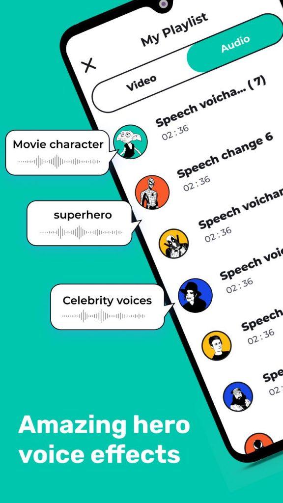 Celebrity voice changer: Superhero voice effects 2021 APK Free Download 3