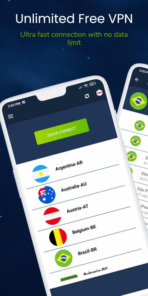 VPN – USA, Canada, Europe, Latam v3.8.3.6.0.4 Pro APK Free Download 2