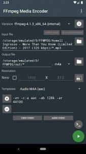 FFmpeg Media Encoder 4.4.5 APK Free Download 2