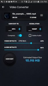 Video Converter Compressor MP4, 3GP, MKV,MOV, AVI 0.4.3 APK Free Download 1